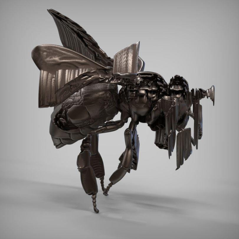 Ai-Da's bee sculpture