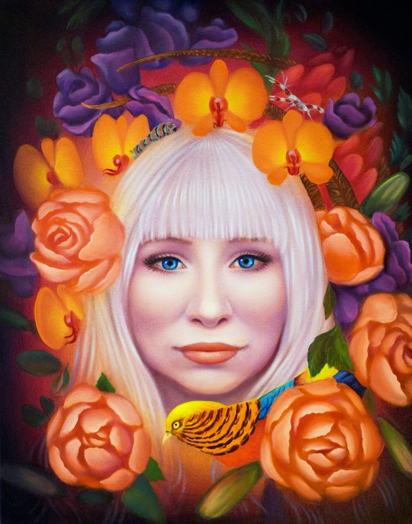 Rosa Fleek, 2020, oil on canvas, 20 x 16 inches © Ryan Martin