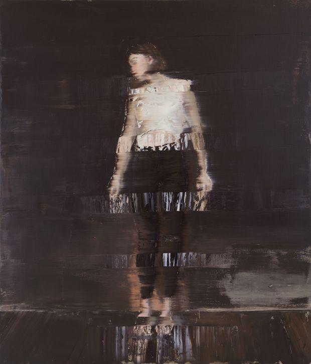 Black Painter's Room, 2018, Oil on canvas, 210 x 180 cm, Opera Gallery