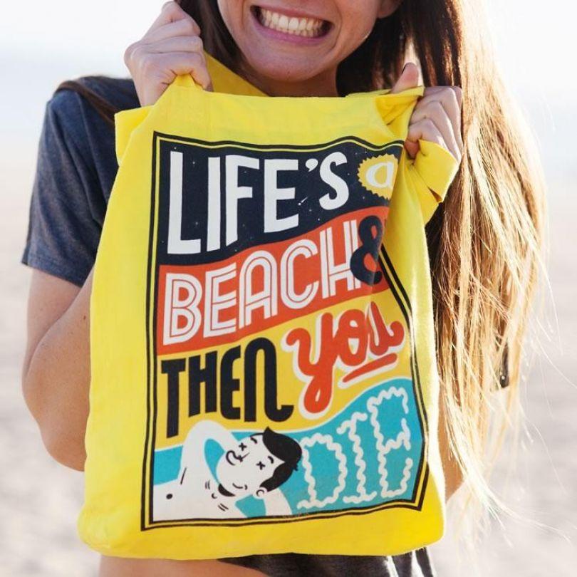 Life's a Beach by Sam Bevington for Evermade