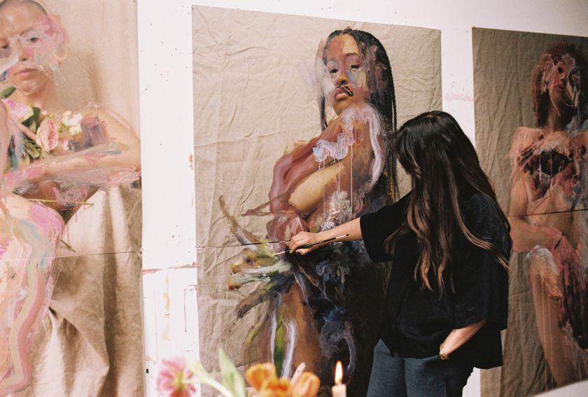 Jess Cochrane in her studio