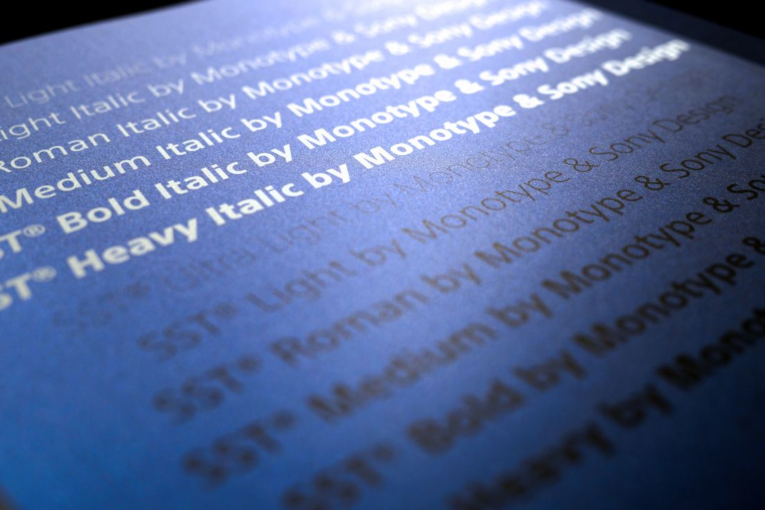 Monotype celebrates seven years of its Sony SST typeface at