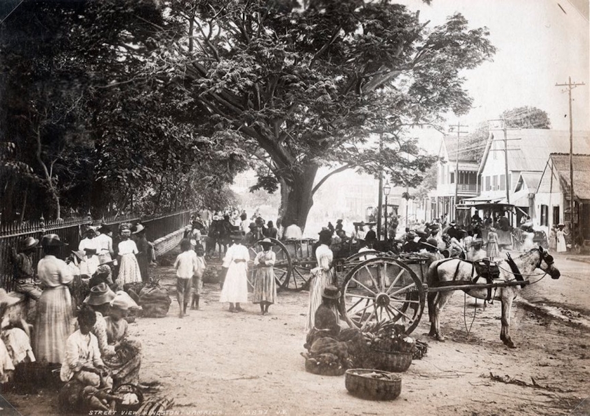 Street View, Kingston, Jamaica. James Valentine & Sons, 1891. Courtesy Caribbean Photo Archive / Autograph ABP