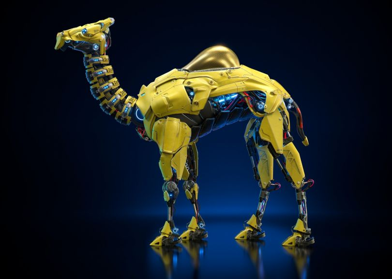 Camel Robot Digital Art by Edu Torres. Winner in the Computer Graphics and 3D Model Design Category, 2019-2020