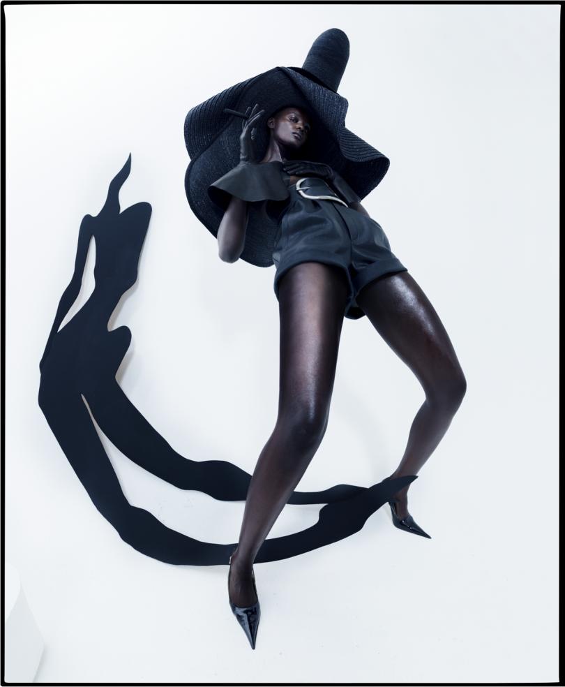 Duckie Thot, Aubrey's shadow Fashion: Saint Laurent London, 2017 © Tim Walker Studio