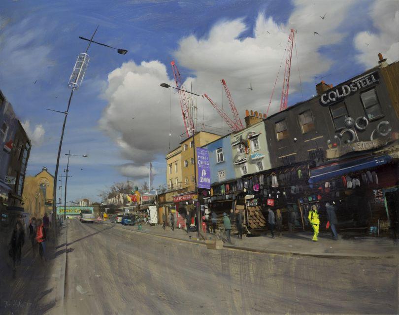 Camden High Street, big clouds, March © Tom Hughes