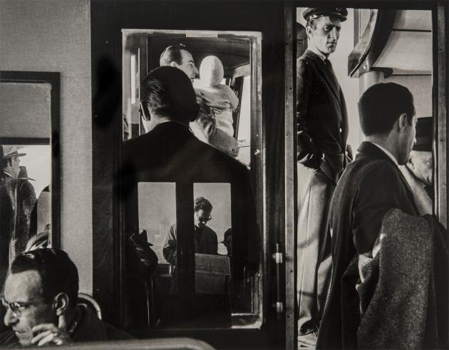 On a vaporetto, Venice, 1958 - Gianni Berengo Gardin
