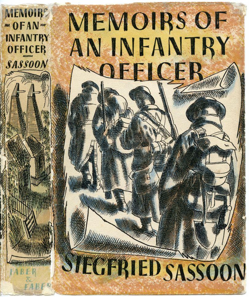 Barnett Freedman, 'Memoirs of an Infantry Officer' by Siegfried Sasson, 1941, Book jacket, Manchester Metropolitan University Special Collections © Barnett Freedman Estate