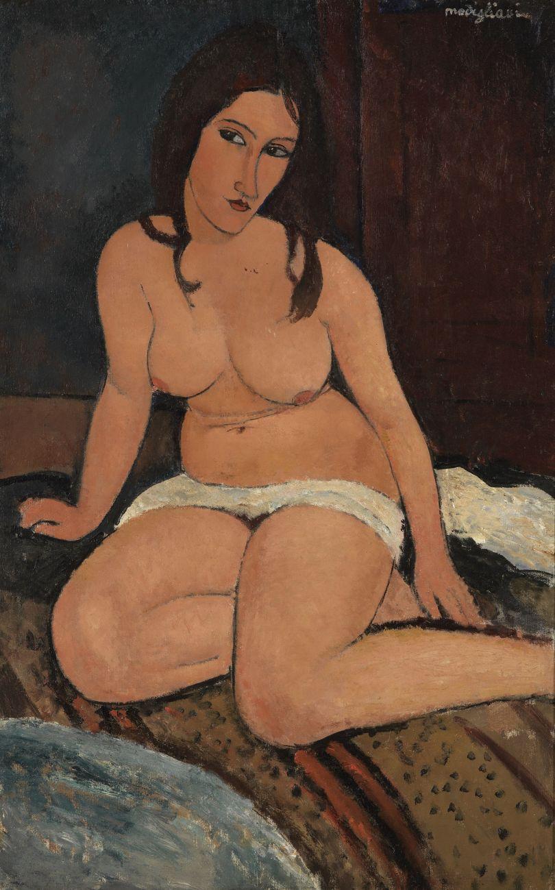 Seated Nude 1917 Oil paint on canvas 1140 x 740 mm Royal Museum of Fine Arts Antwerp, Lukasart in Flanders Photo credit: Hugo Maertens