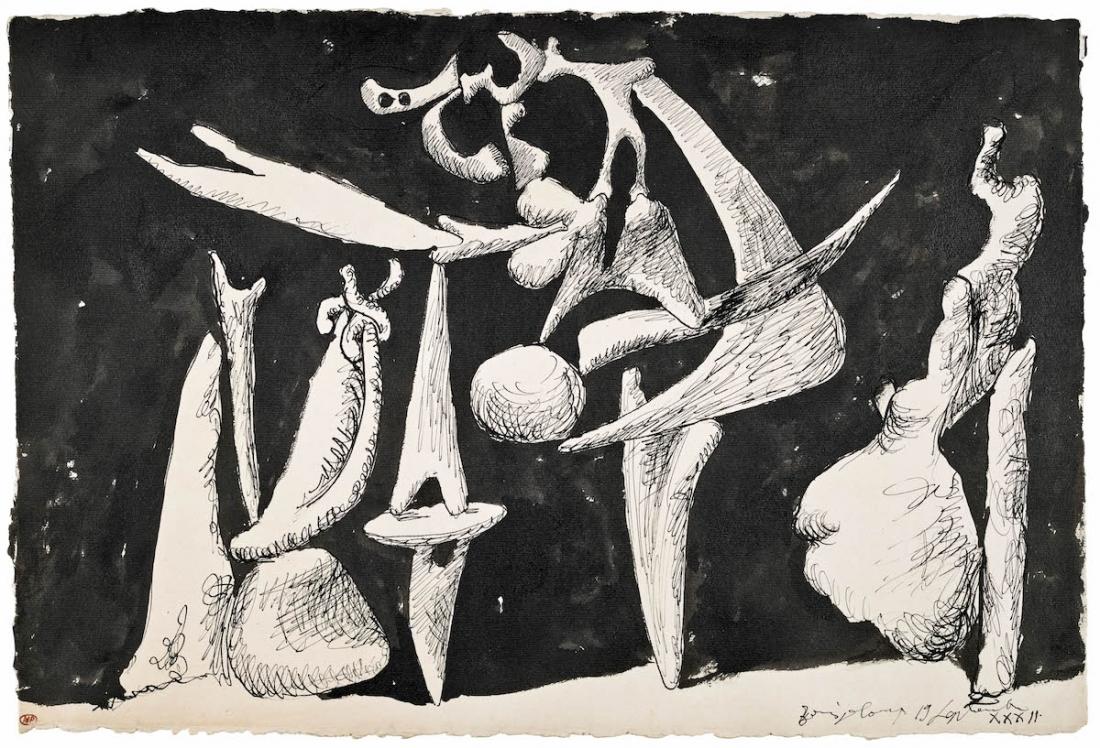 Pablo Picasso The Crucifixion (La crucifixion) 1932 Ink on paper 345 x 505 mm Musée National Picasso © Succession Picasso/ DACS London, 2017