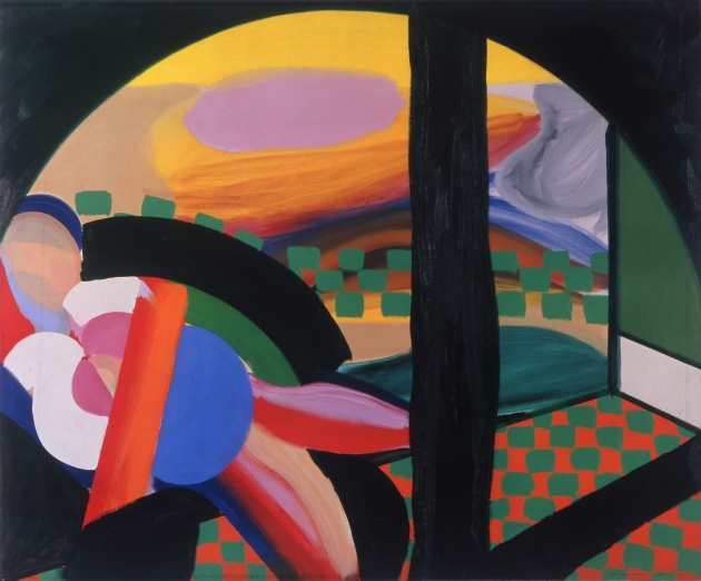 Howard Hodgkin Mrs Acton in Delhi, 1967–71 Oil on canvas, 122 x 148cm | Credit: © Howard Hodgkin Courtesy the artist and Gagosian