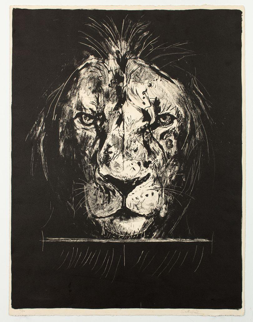 Graham Sutherland Lion, 1968 lithograph From: A Bestiary and Some Correspondences portfolio of twenty six colour lithographs Courtesy Marlborough Fine Art