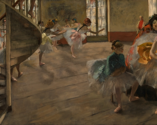 Hilaire-Germain-Edgar Degas The Rehearsal about 1874 Oil on canvas 58.4 × 83.8 cm The Burrell Collection, Glasgow (35.246) © CSG CIC Glasgow Museums Collection