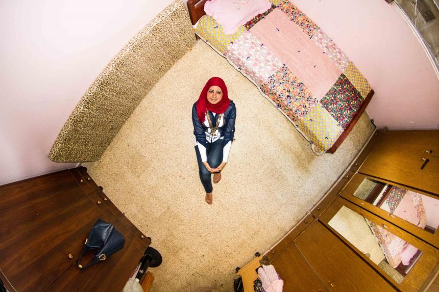Sabrina, teacher in Shatila, Lebanon - room #1093