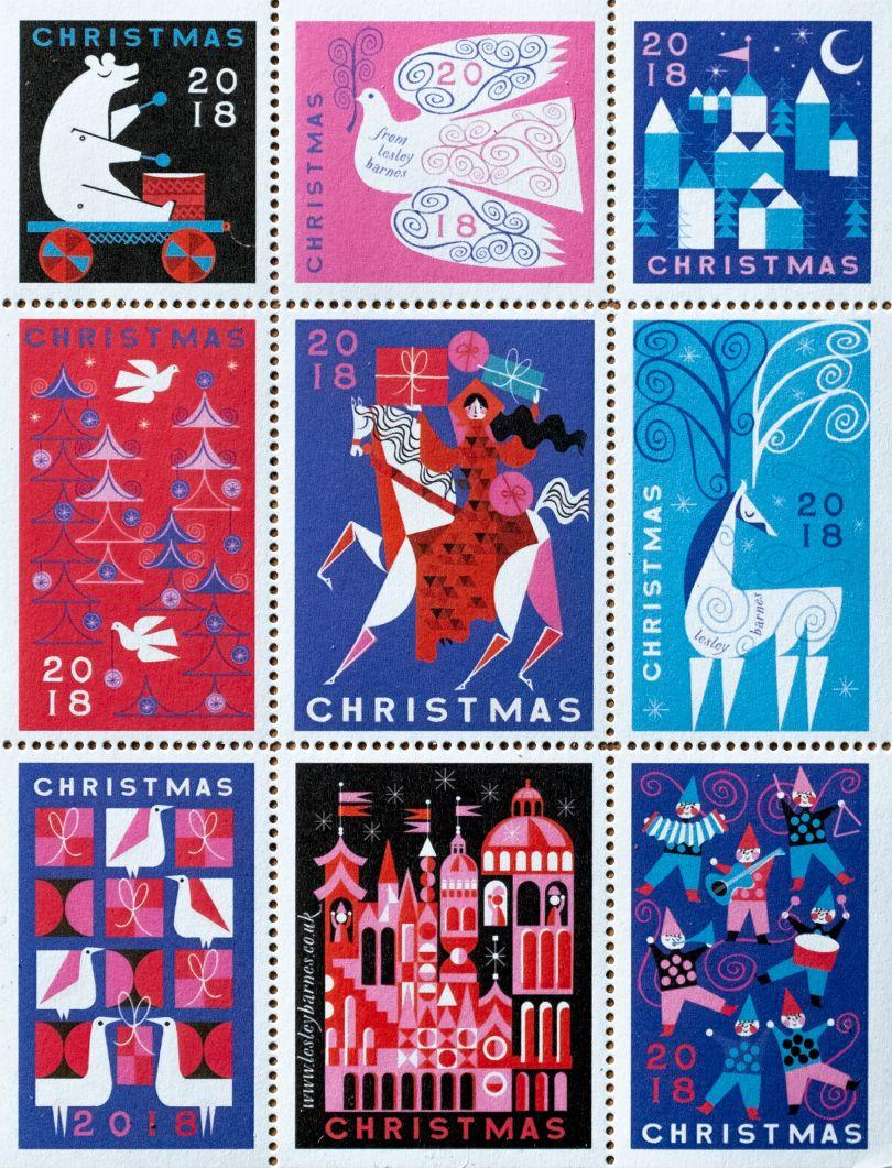 Lesley Barnes : Christmas Stamps 2018 (Design)