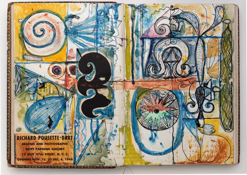 Page from Notebook B-114 (Knights of Pythias) c. 1940s The Richard Pousette-Dart Estate.