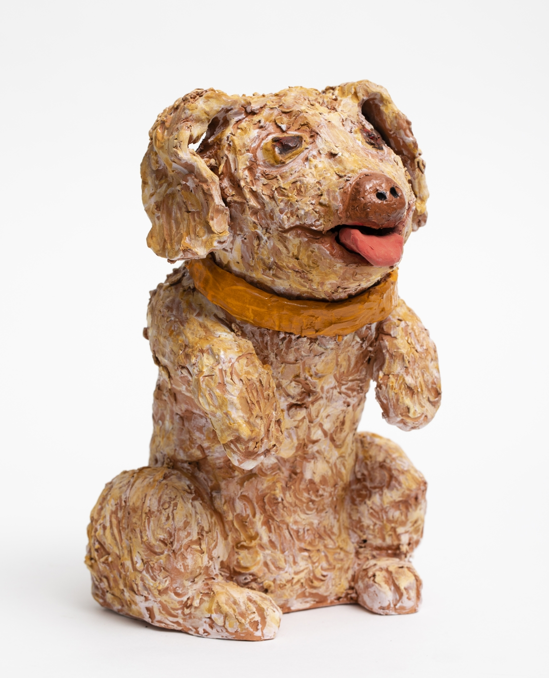 Sally SAUL, Little Dog, 2018 Clay and glaze 11 x 7 1/2 x 9 1/2 inches 27,9 x 19,1 x 24,1 cm
