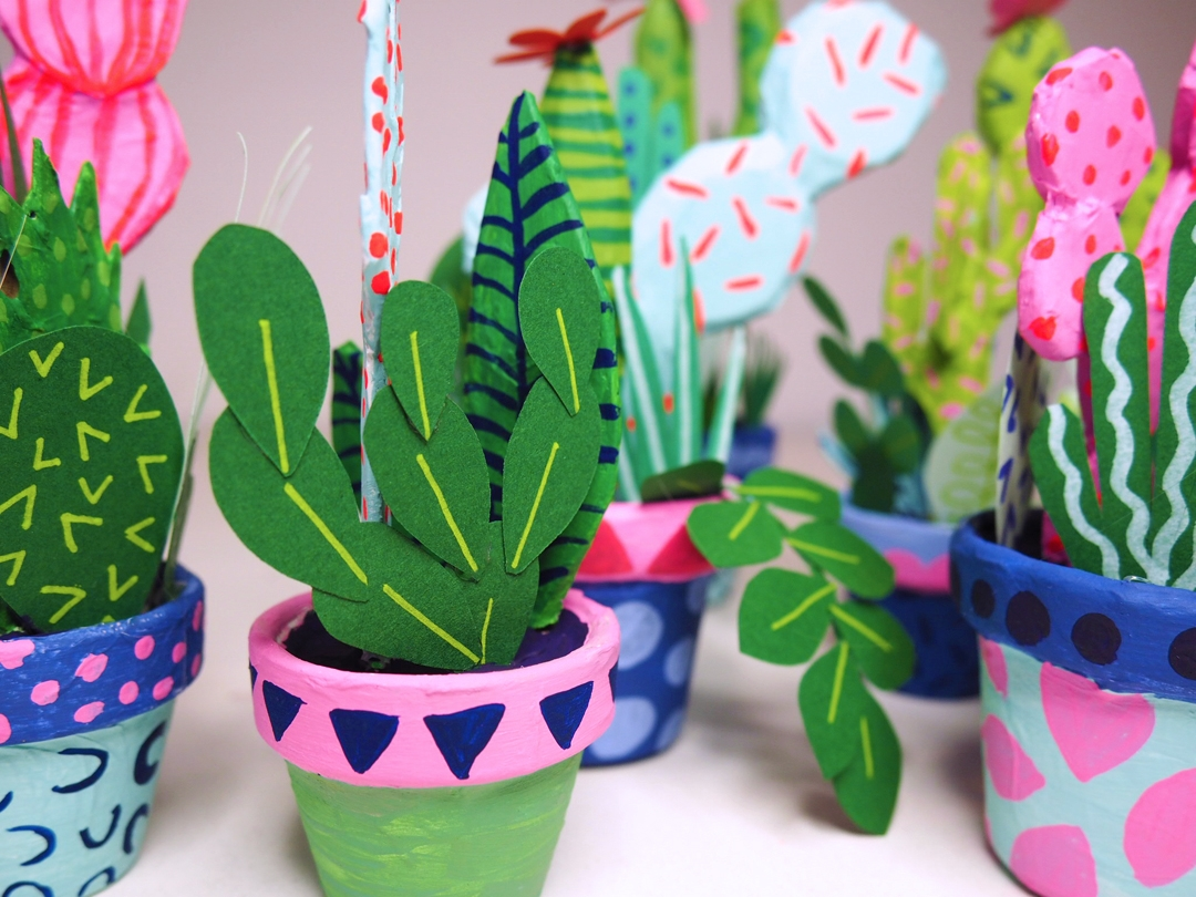 Paper Cacti: Illustrator Kim Sielbeck crafts bright coloured paper ...