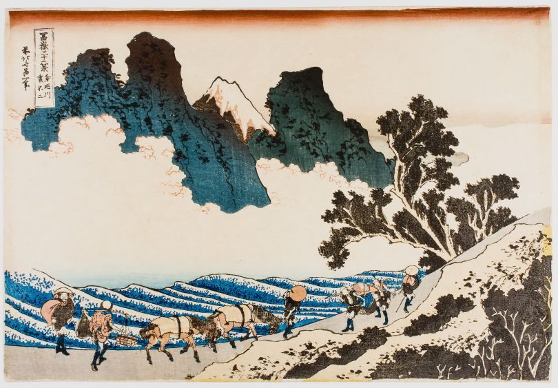 Katsushika Hokusai – The Back of Fuji from the Minobu River Copyright: © TASCHEN/Philadelphia Museum of Art