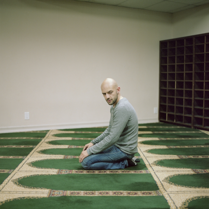 "Jason, Los Angeles © Lia Darjes: ""When I converted to Islam a couple of years ago, it [being gay] wasn't an issue for me. I had just realized that I wanted to be a Muslim, and being a Muslim at that moment, as a very early young Muslim, it was all about my connection with God, and getting close to God. A month later, I realized that I needed to look to what the Quran and everybody says about being gay. … And everything was extremely negative, very, very negative. And it was very disturbing to me."""