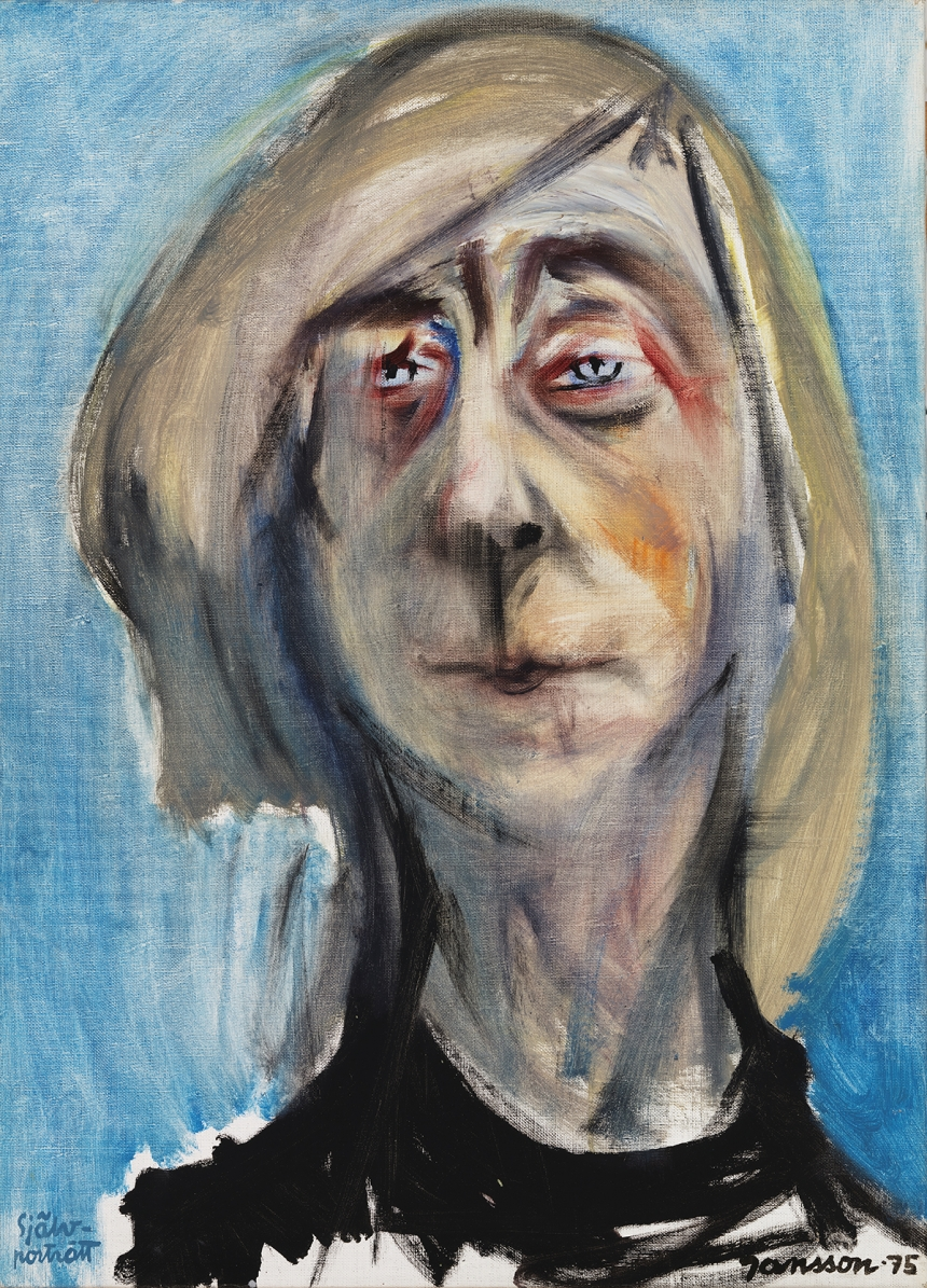 Tove Jansson, Self-Portrait, 1975, Oil, 65 x 47 cm, Private Collection. Photo: Finnish National Gallery / Yehia Eweis