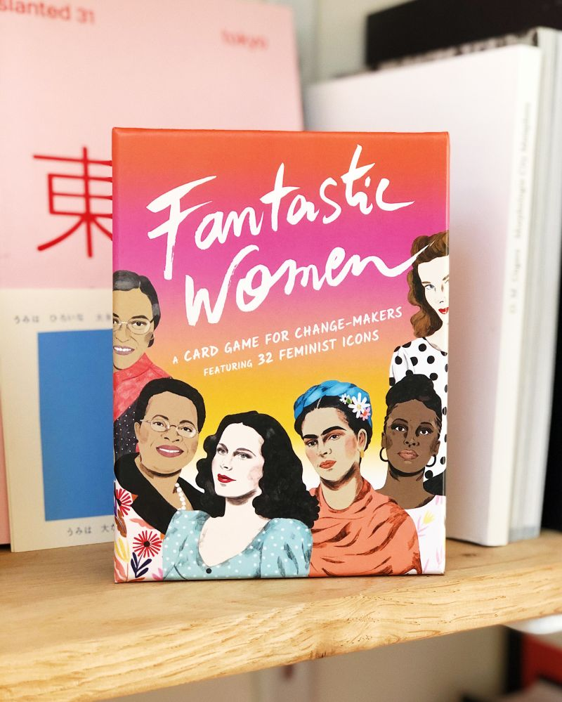 Frances Ambler's Fantastic Women is a card game with stunning portraits by illustrator Daniela Henríquez