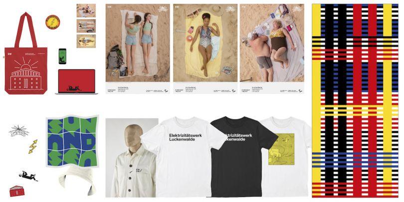 Full selection of merchandise. Courtesy of E-WERK, Studio Lorenz Klingebiel, Universal Works and the Sun _ Sea artists