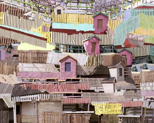 Untitled (Paarl stacks), 2016 © Nico Krijno courtesy Beetles + Huxley