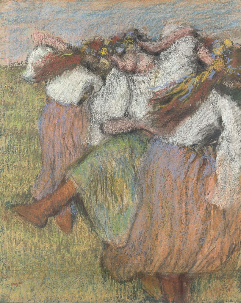 Hilaire-Germain-Edgar Degas  Russian Dancers  about 1899  Pastel and charcoal on tracing paper 73 x 59.1 cm  © The National Gallery, London