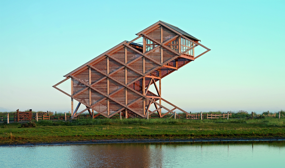 Bird Observation Tower, Graswarder-Heiligenhafen, Germany, Architekten von Gerkan, Marg und Partner, 2005. Picture credit: Heiner Leiska