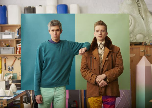 Architectural foodsmiths Sam Bompas and Harry Parr. Favourite colours - Teal and Slime Green. Photography by Toby Coulson