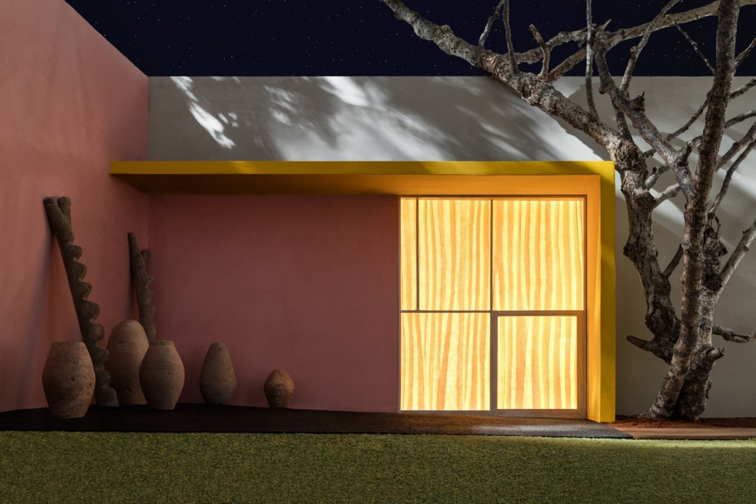 Yellow Overhang with Patio, 2016© James Casebere