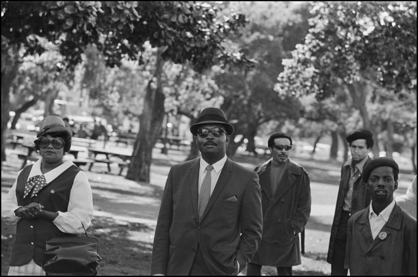 """Spectators and Black Panther Party members at a Free Huey rally at Defermery Park, Oakland Ca., 1968, from, """"The Lost Negatives,"""" photographs by Jeffrey Henson Scales Credit: Jeffrey Henson Scales"""