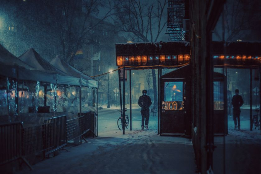 Photographs by Franck Bohbot of an unusually deserted and wintry New York City