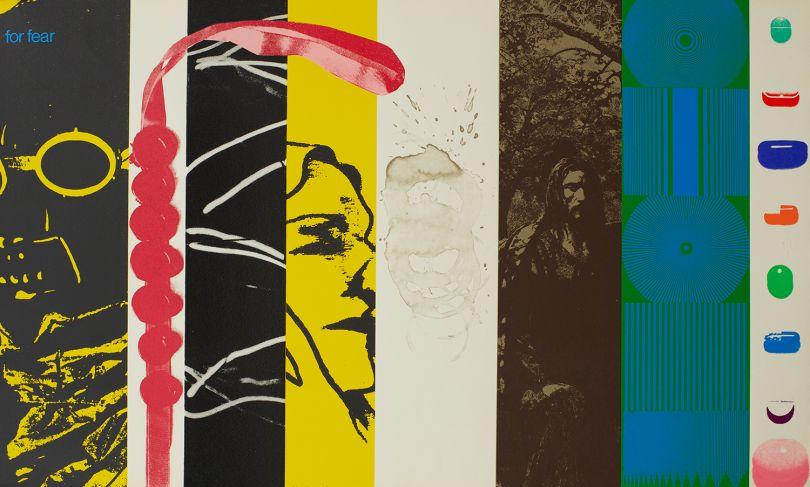 R.B Kitaj, For Fear from the 'Mahler Becomes Politics,   Beisbol', 1964  -  67  , screenprint, Pallant House Gallery   (Wilson Gift through The Art Fund, 2006) © The Estate   of R B Kitaj