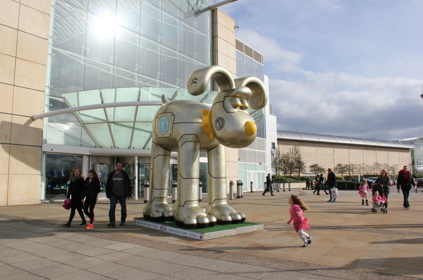 Giant Gromit sculpture designed for a Hong Kong exhibition