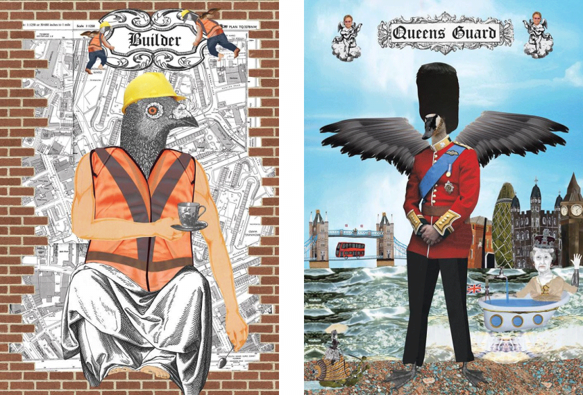 "Scott Dessert's oddball collages celebrate the ""Gods of London"""