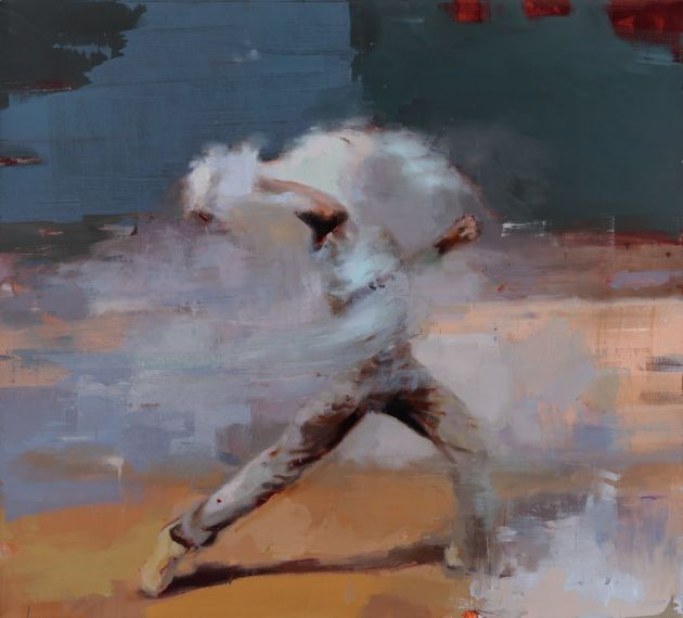 Thrower #2, Oil on Canvas © Jérôme Lagarrigue. All images courtesy of the artist and gallery.