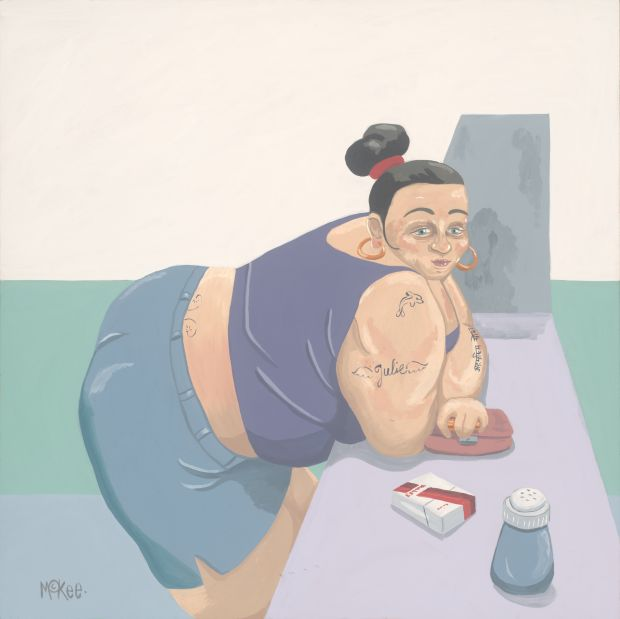 Julie at the Chippy © Pete McKee