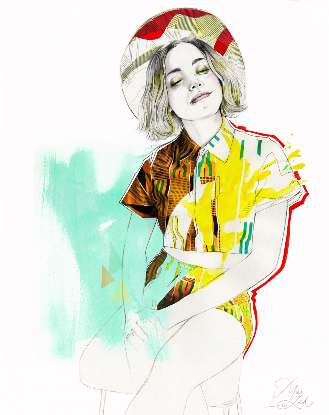 Nina : Illustration for Fashion, tuturial course co produced and directed by Miss Led