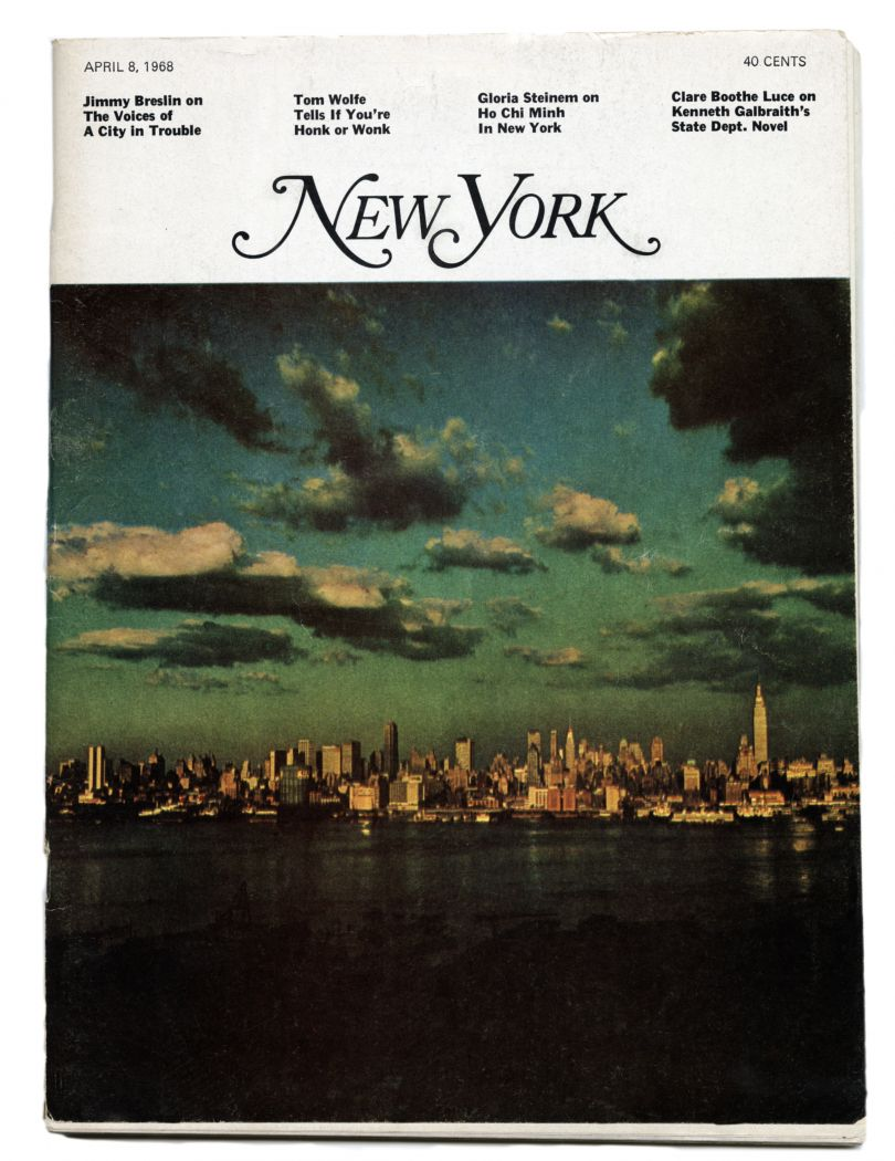 Cover of New York Magazine's launch issue, 1968. Courtesy of Milton Glaser Studio
