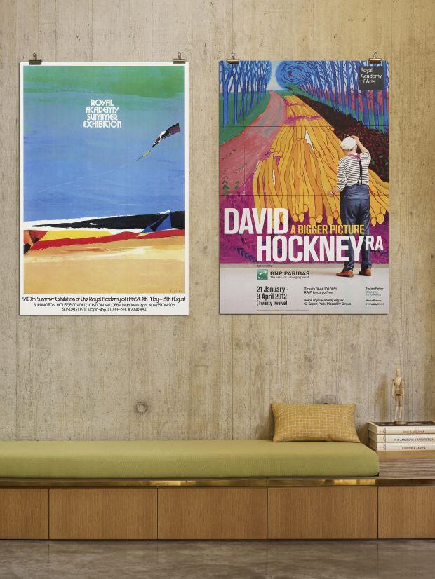 RA Summer Exhibition 1978 Epic Poster and RA David Hockney Exhibition 2012 Epic Poster