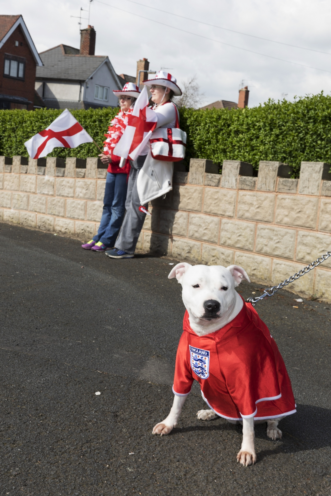 St George's Day, Stone Cross Parade, West Bromwich, 2017. © Martin Parr
