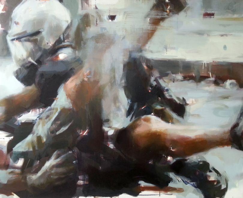 The Arrest, Oil on Canvas © Jérôme Lagarrigue