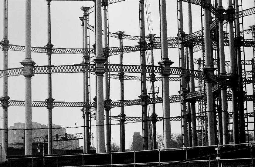 Gasometers now long gone. King's Cross - 1974