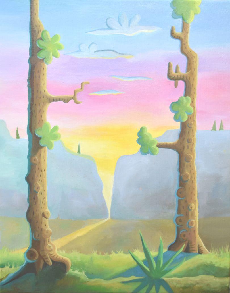 Daisy Dodd Noble, Sunset Climb. Image courtesy of the artist