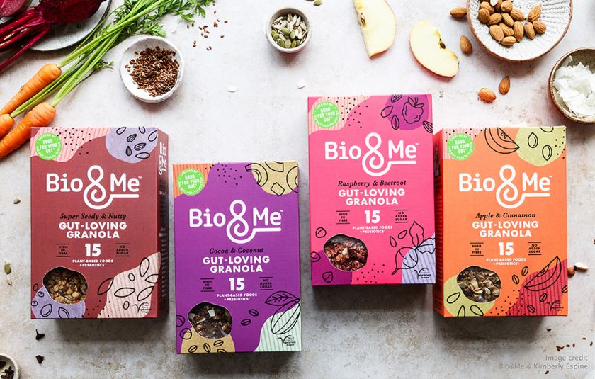 B&B studio creates friendly colourful identity for 'gut-loving food brand' Bio&Me