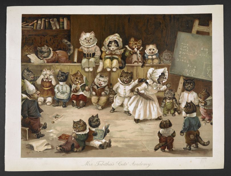 Mrs Tabitha's Cats Academy, London, Ernest Nister, 1892 (c) The British Library Board