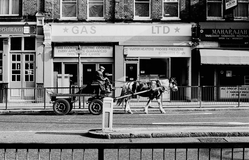 One of the last rag and bone men.  Hackney - early 1980s