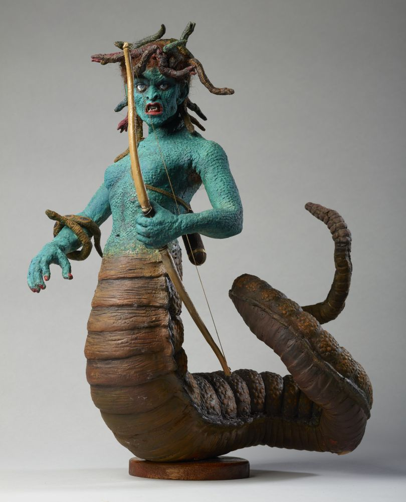 Medusa model from Clash of the Titans, c.1979 by Ray Harryhausen (1920-2013) Collection: The Ray and Diana Harryhausen Foundation (Charity No. SC001419) © The Ray and Diana Harryhausen Foundation Photography: Sam Drake (National Galleries of Scotland)